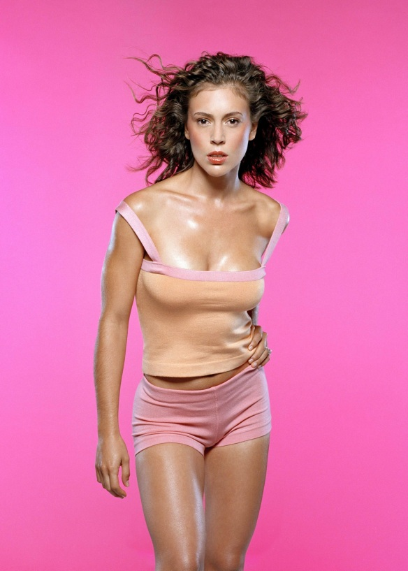 Alyssa Milano Curly Hair Model