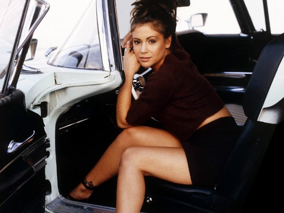 Alyssa Milano car Remember the 90s