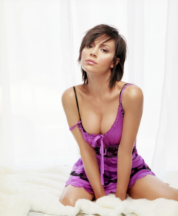 alyssa milano sexy purple