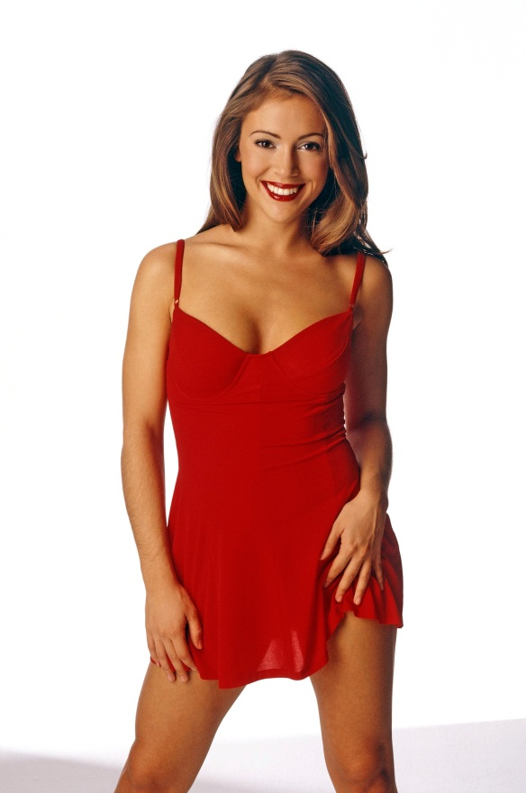 alyssa milano sexy red