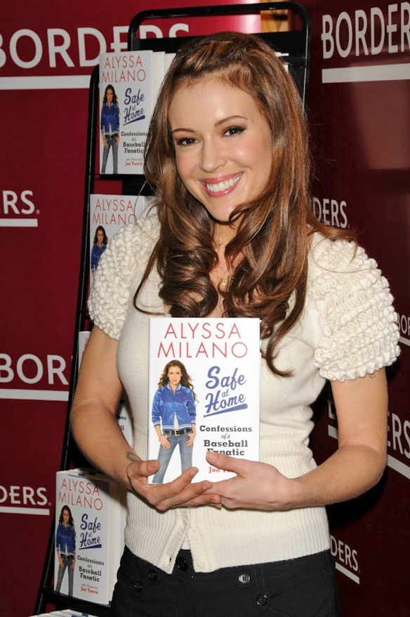 Alyssa Milano and her book 'Safe at Home - Confessions of a baseball fanatic'