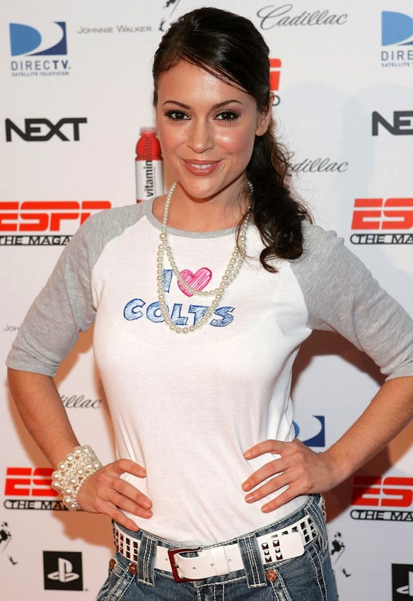 Alyssa Milano loves the Colts
