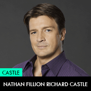 Castle TV Series, Nathan Fillion as Richard Castle