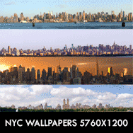 New York Manhattan Triple screen Multi monitor Wallpapers 5760×1200