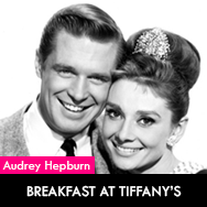 Audrey Hepburn, Breakfast at Tiffany's (1961) starring George Peppard