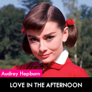 Audrey Hepburn, Love in the afternoon (1957) starring Gary Cooper and Maurice Chevalier