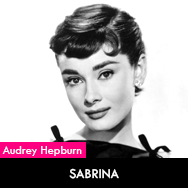 Audrey Hepburn, Sabrina (1954) starring Humphrey Bogart and William Holden