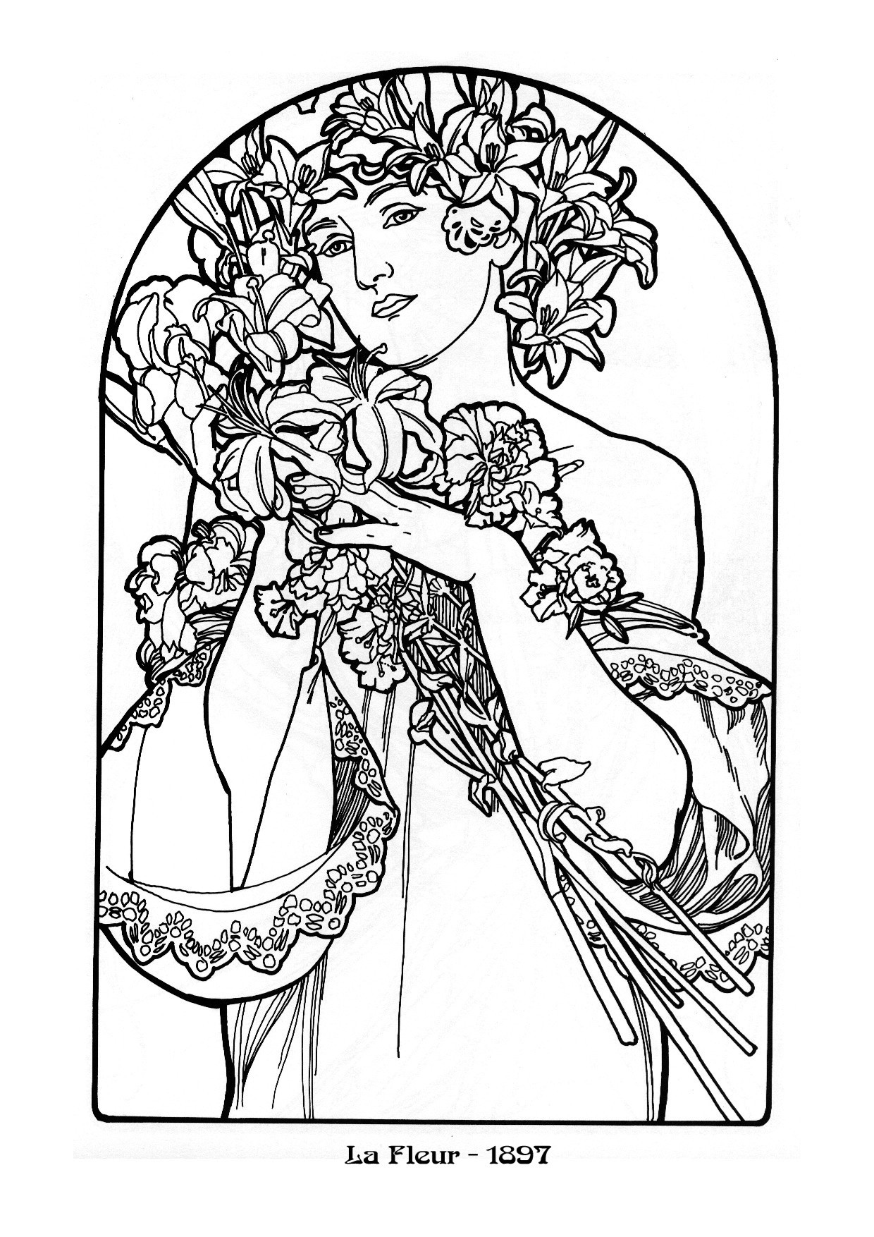 art nouveau coloring pages - photo#38