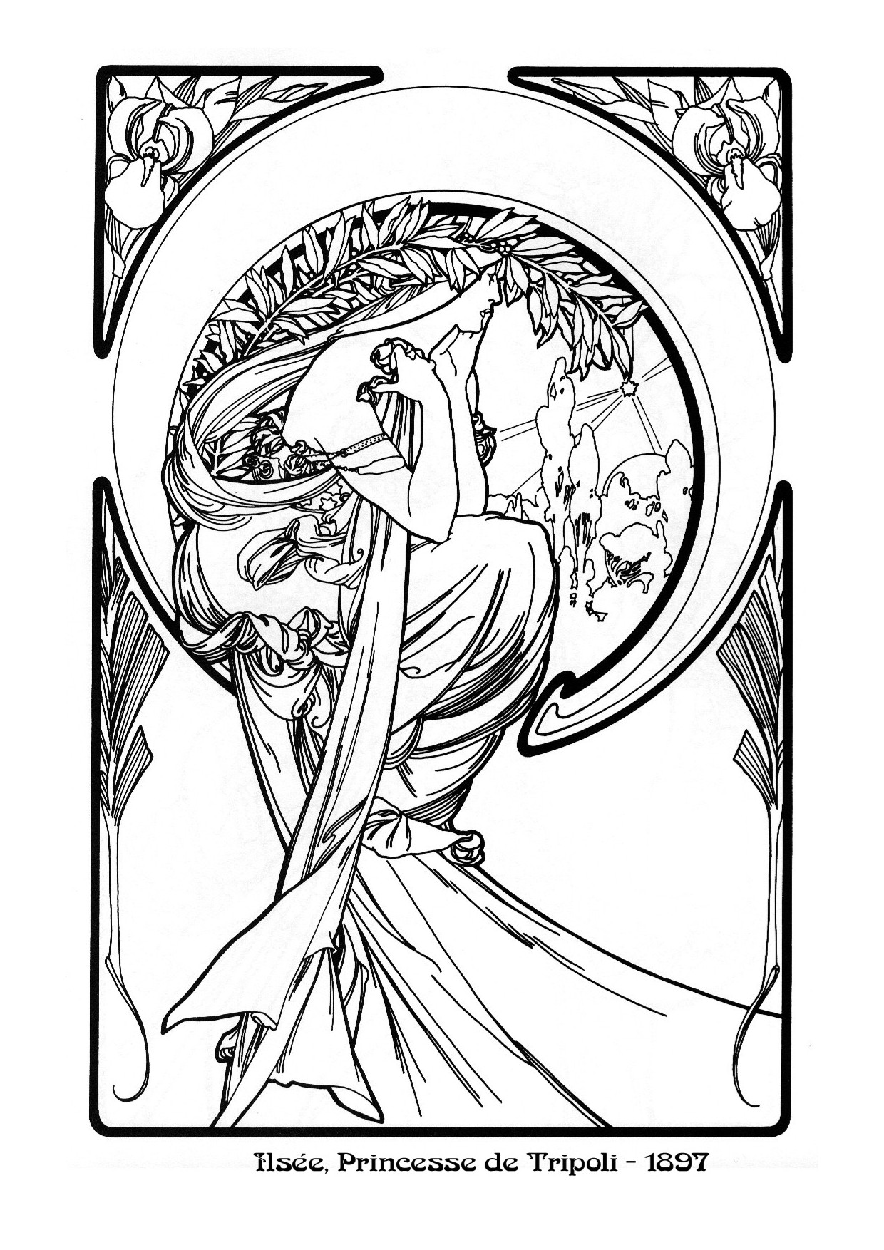 art nouveau coloring pages - photo#27
