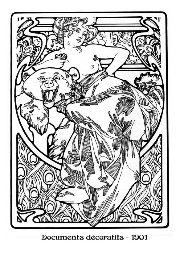 art nouveau coloring pages - photo#37
