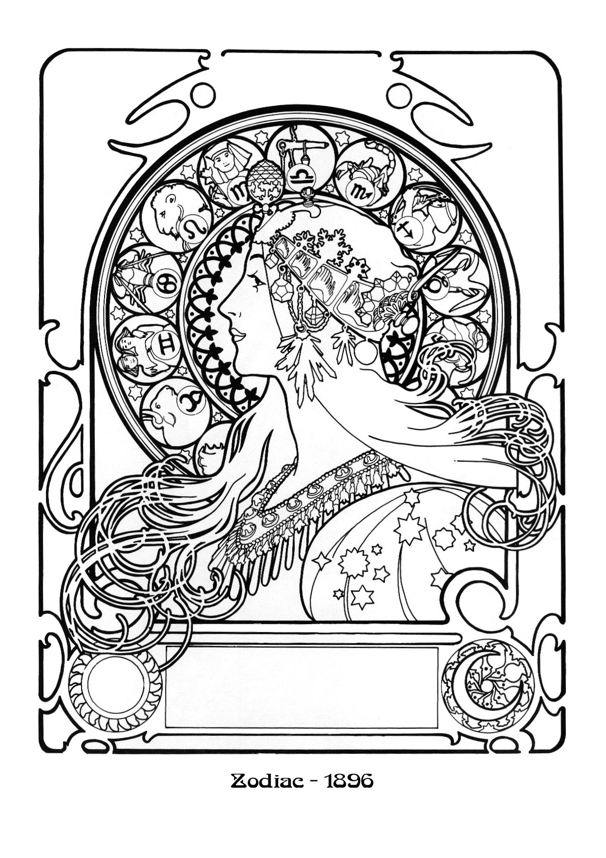 art nouveau coloring pages - photo#25