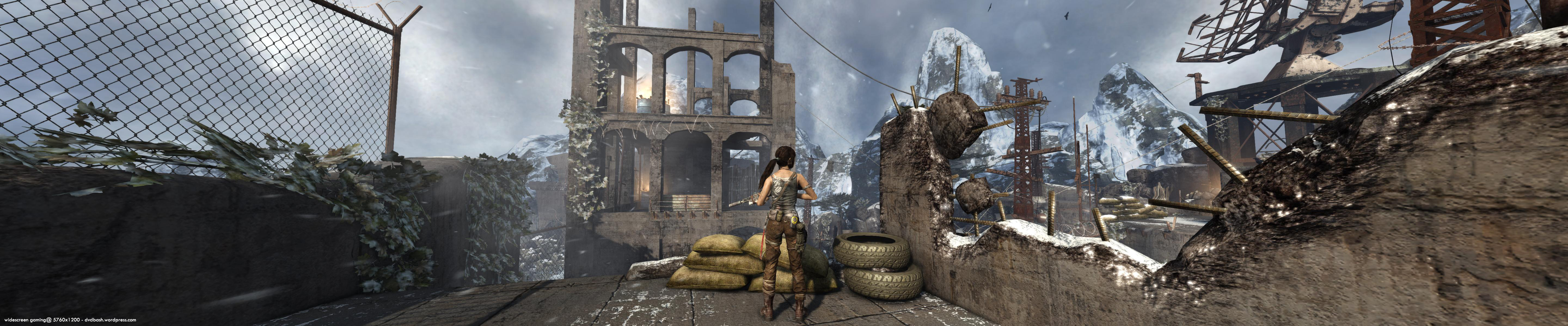 Widescreen Gaming 5760 1200 Tomb Raider 2013 Lara Croft Dvdbash